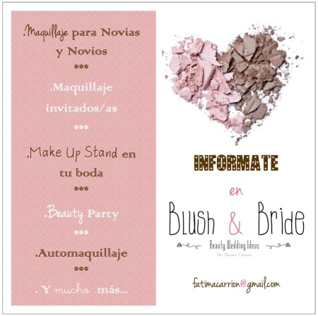 flyer blush and bride